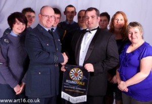 Andrew Sanderson (RT) with Bassingbourn Air Cadets